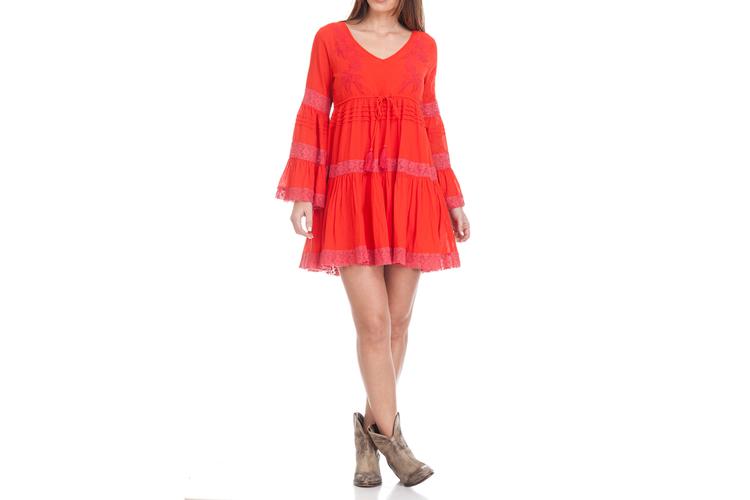 Peace & Love. Vestido rojo