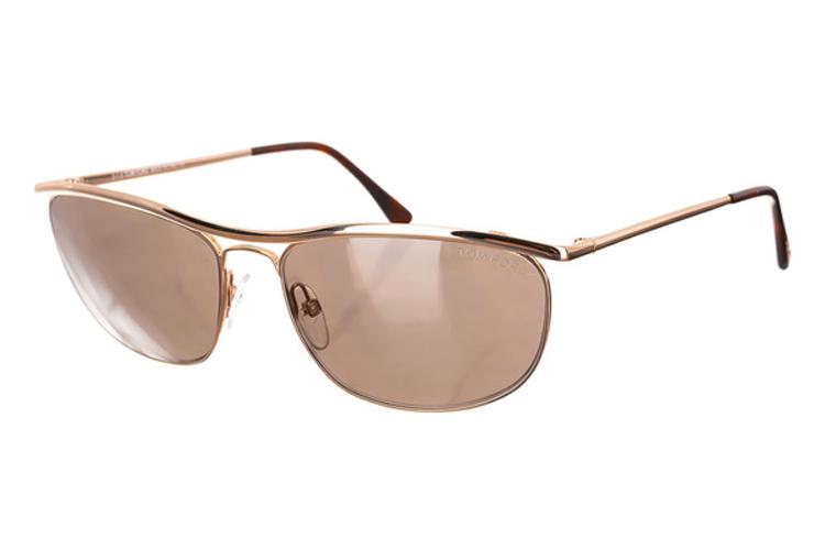 Renueva tus gafas de sol. Gafas de metal doradas