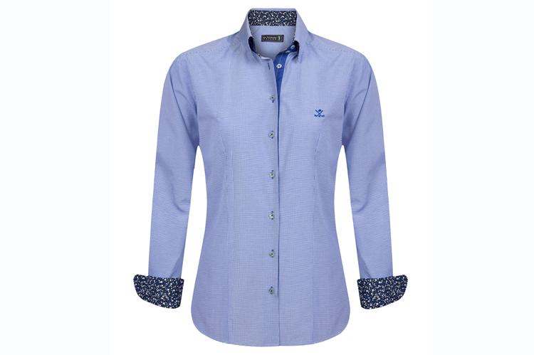 Sir Raymond Tailor. Camisa de algodón azul