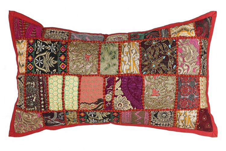 Textiles con estilo. Cojín patchwork