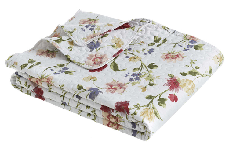 Textiles con estilo. Colcha de flores
