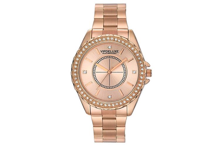 Vip Deluxe. Reloj metal rosa