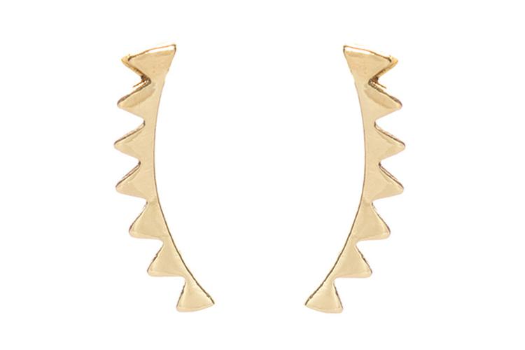 Yocari. Pendientes earcuff triángulos