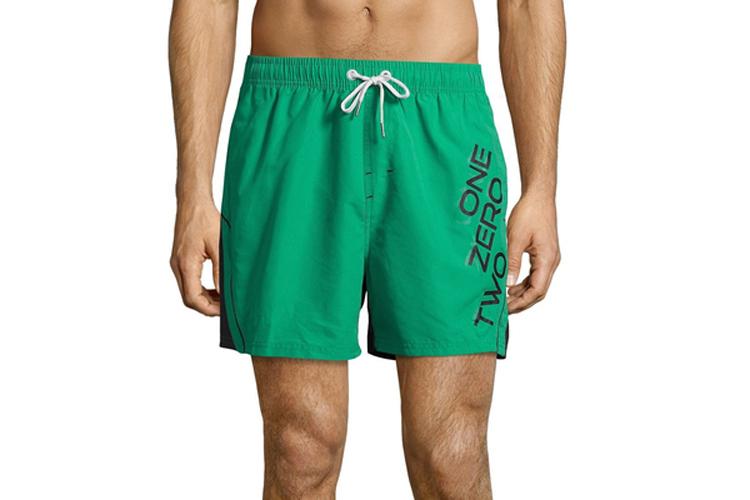Avec Plaisir. Bañador hombre liso en verde