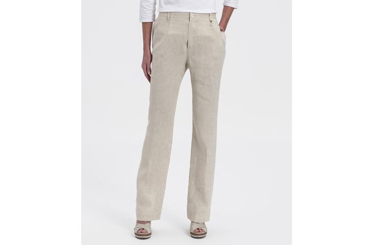 Descuentos Lasserre. Pantalón de lino beige