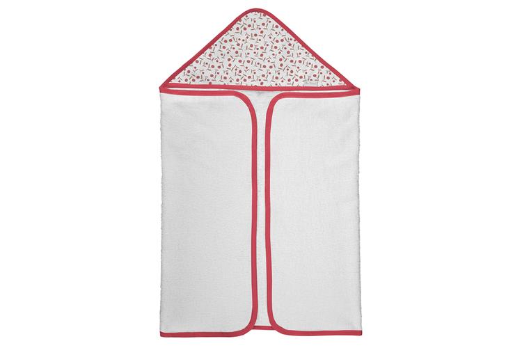 Petit Lazzari. Capa toalla roja
