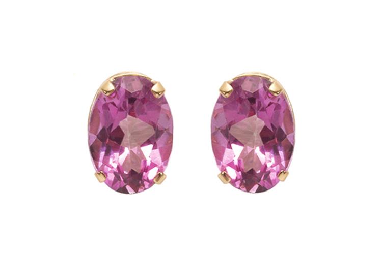 Rhapsody. Pendientes de piedra rosa