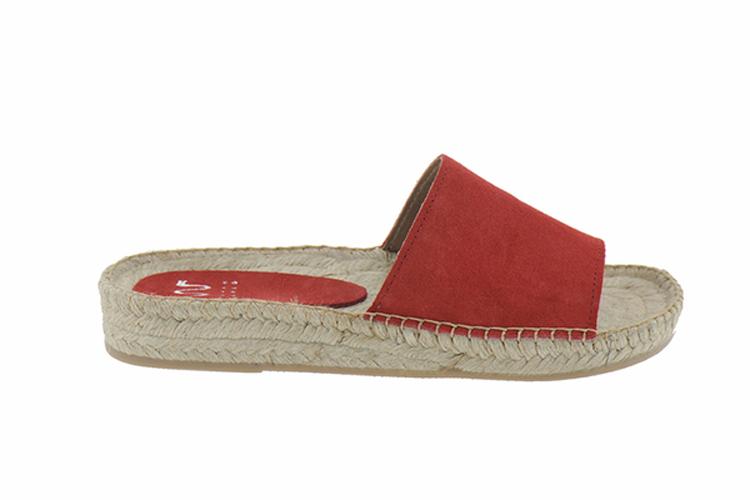 Sarah World. Alpargatas sandalias rojas de mujer