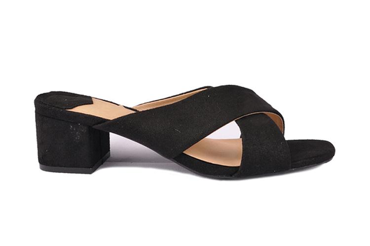 Sun Color. Sandalias negras