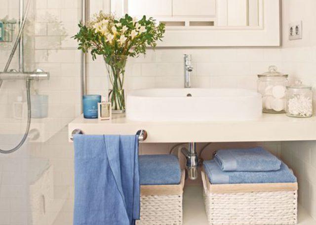 Decoración baños: Toallas de colores