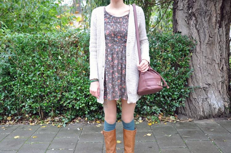 Autumm floral dress-48491-redvelvet
