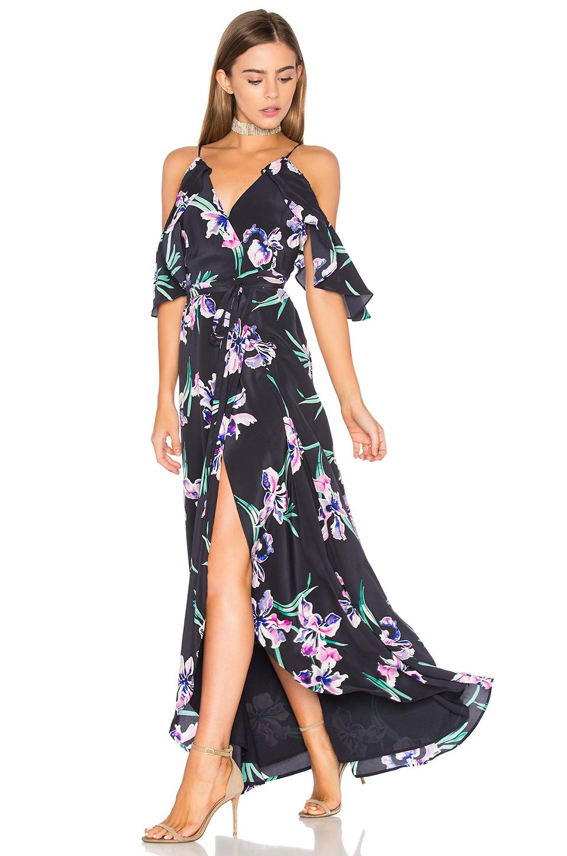Vestido Midi Flores de Revolve Clothing