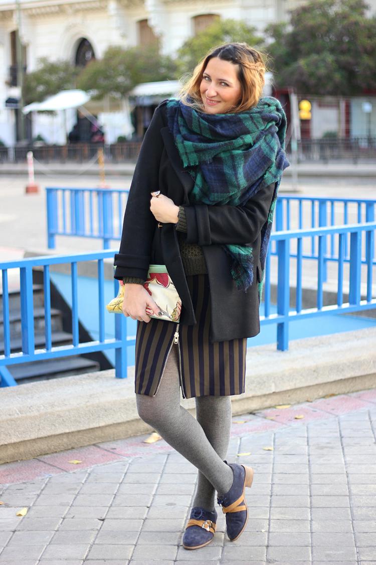 look-falda-de-rayas