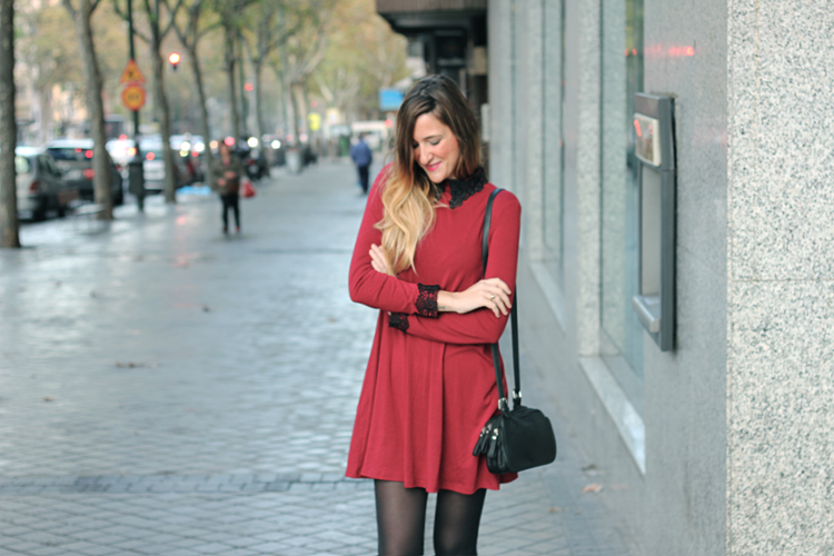 burgundy-dress-babydoll