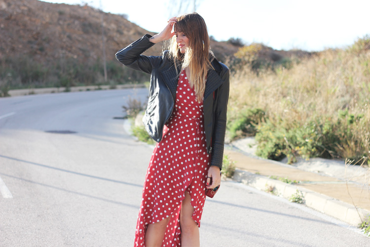 street_style-dots_dress-revolve_clothing