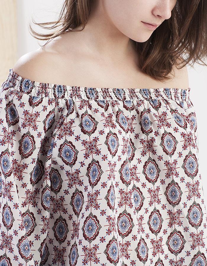 Camisa print boho stradivarius