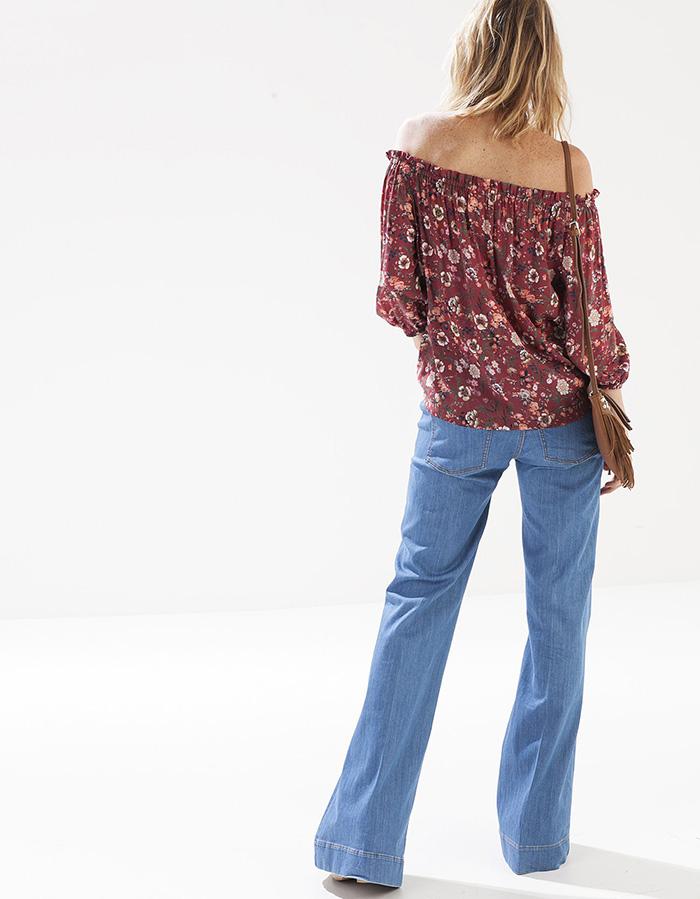 Camisa print flores stradivarius