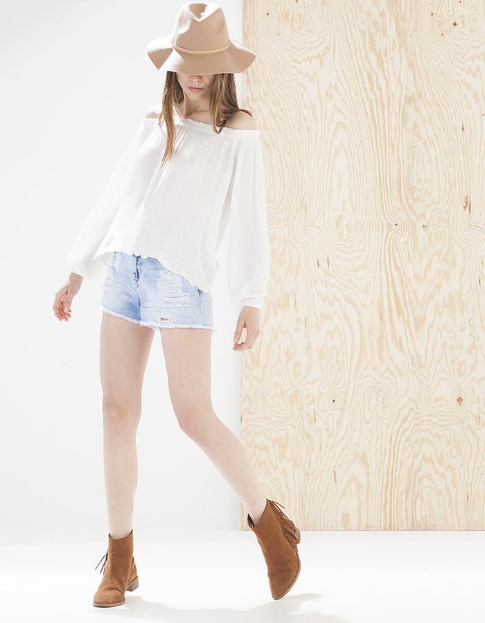 Camisa blanca stradivarius