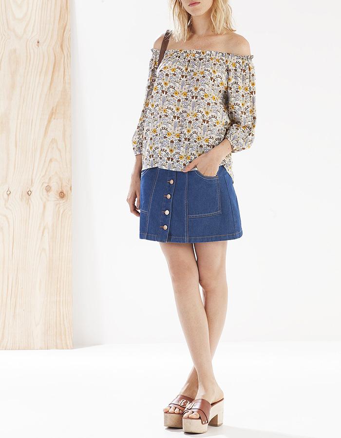 Camisa print floresstradivarius