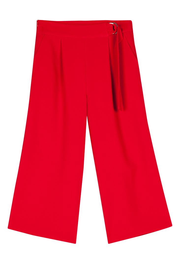 Pantalón culotte rojo