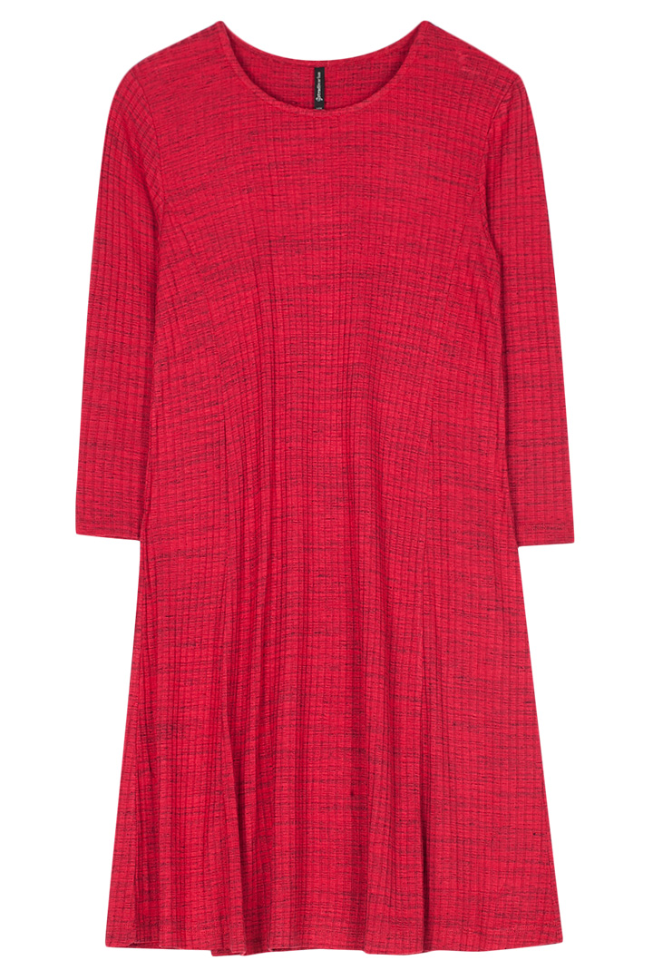 Vestido rojo con canalé