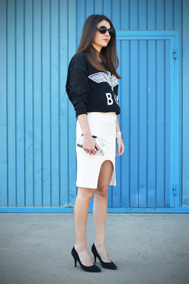 CUT OUT SKIRT + SWEATSHIRT BOY-6158-stylissim