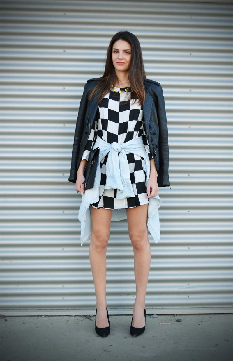 CHECKERED DRESS + WAIST TIE-6113-stylissim