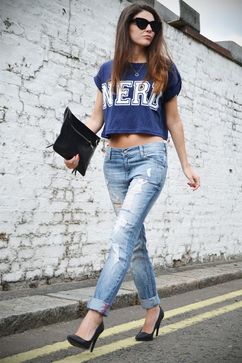 boyfriend jeans crop top2