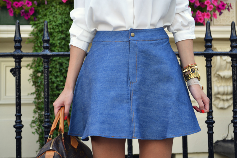 chicwish denim skirt