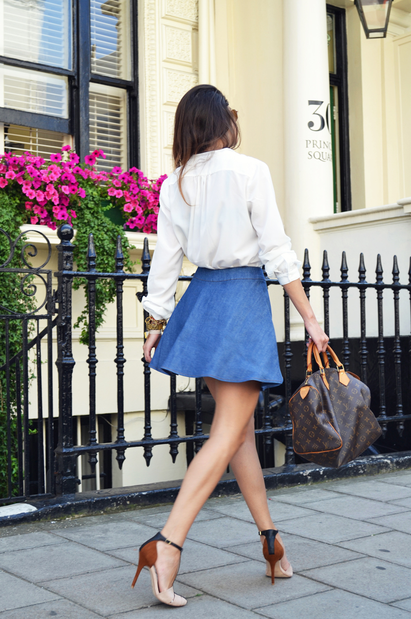 flared denim skirt 3