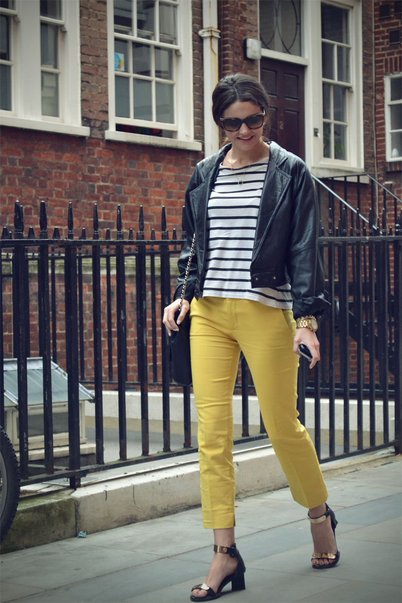 yellow and stripes 5