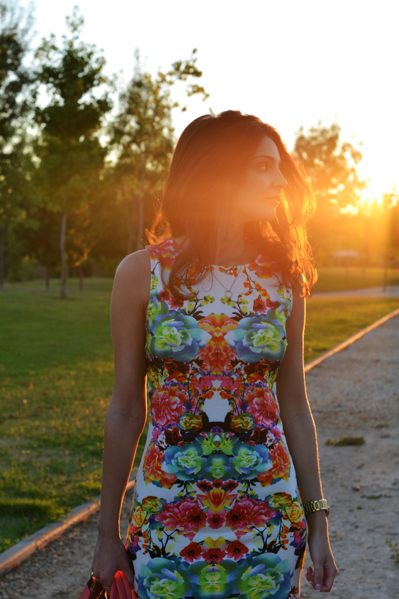 flowered dress light