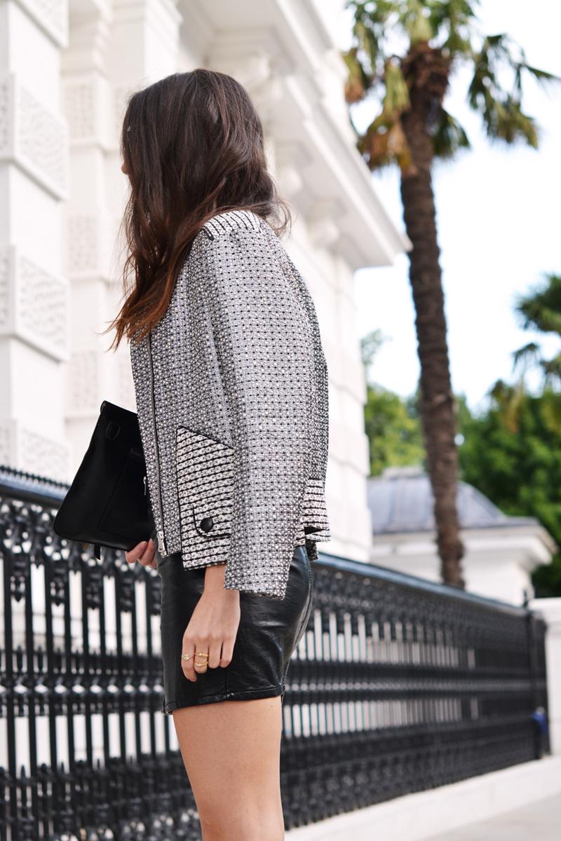 metal silver sandro jacket