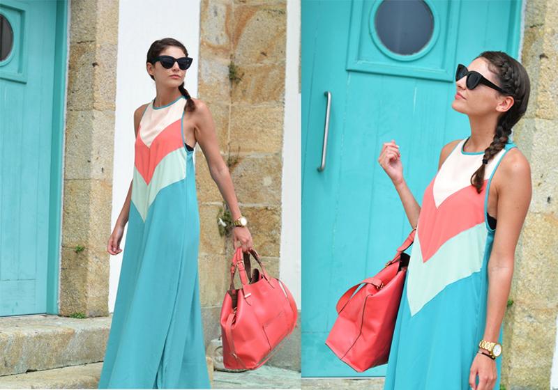 jarlo-dress tricolor