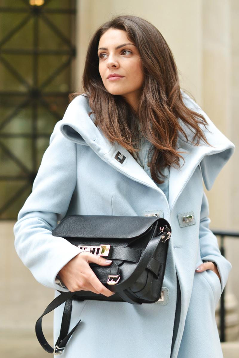 oversize pastel coat