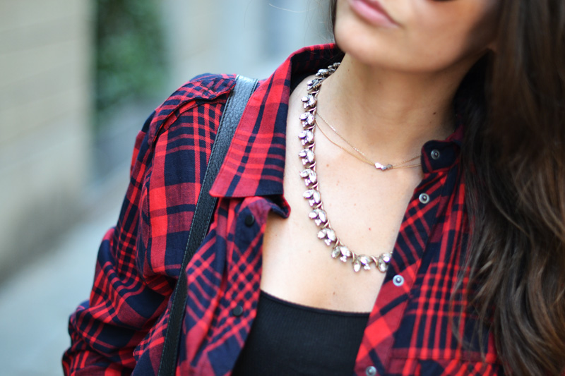 tartan and silver necklace
