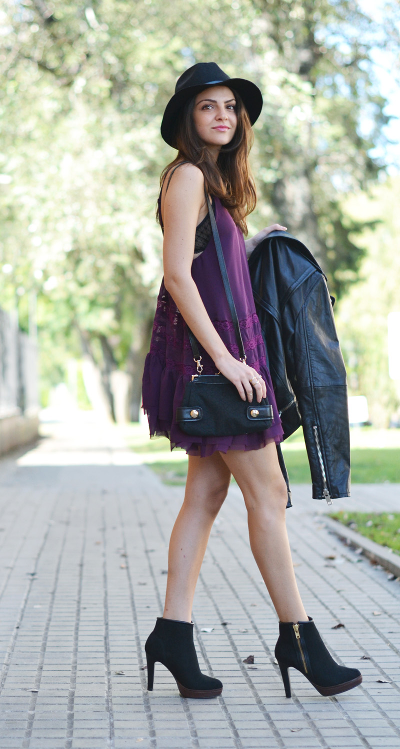 lace dress purple