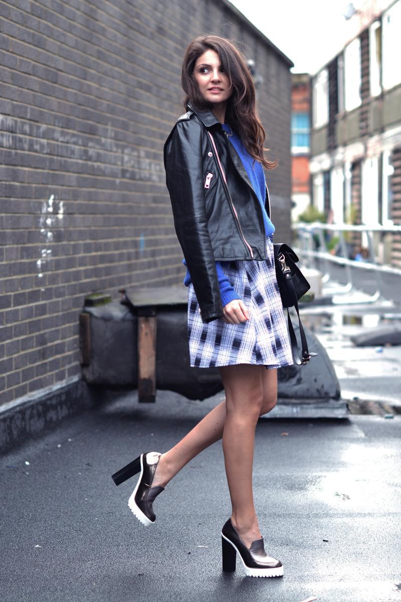 tartan skirt. 2