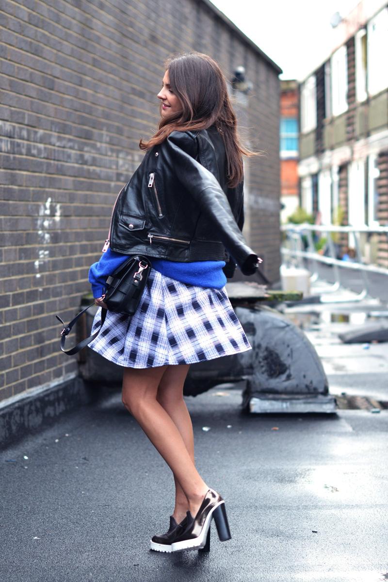 tartan skirt. 4
