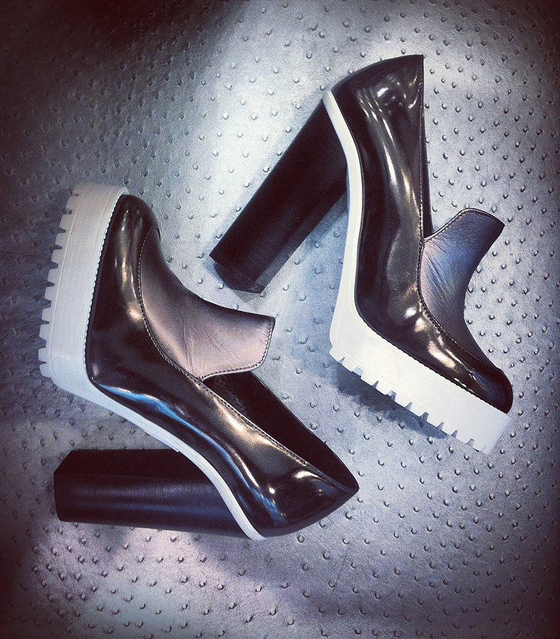 topshop metal shoes