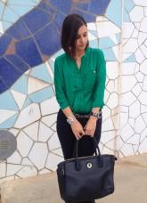 Working girl: Green Shirt-819-lauryn84
