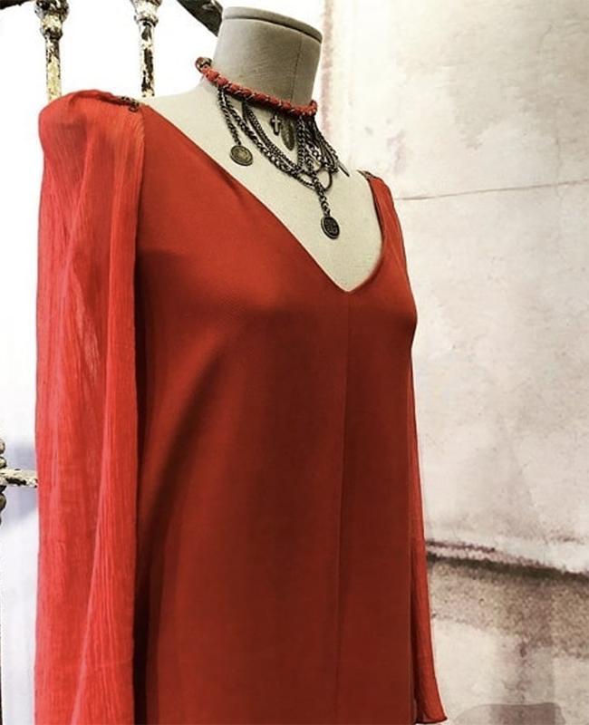 Vestido rojo de T.ba