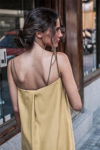 Vestido amarillo de T.ba