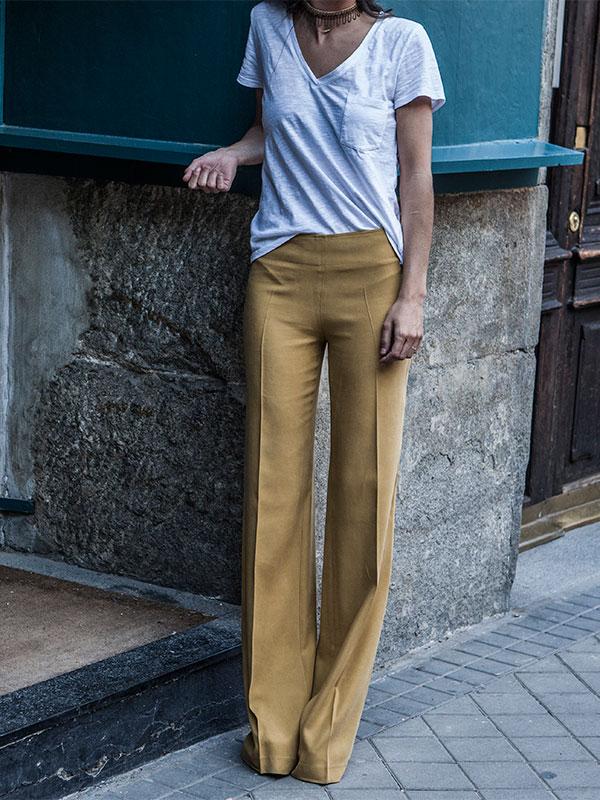 Pantalones mostaza de T.ba