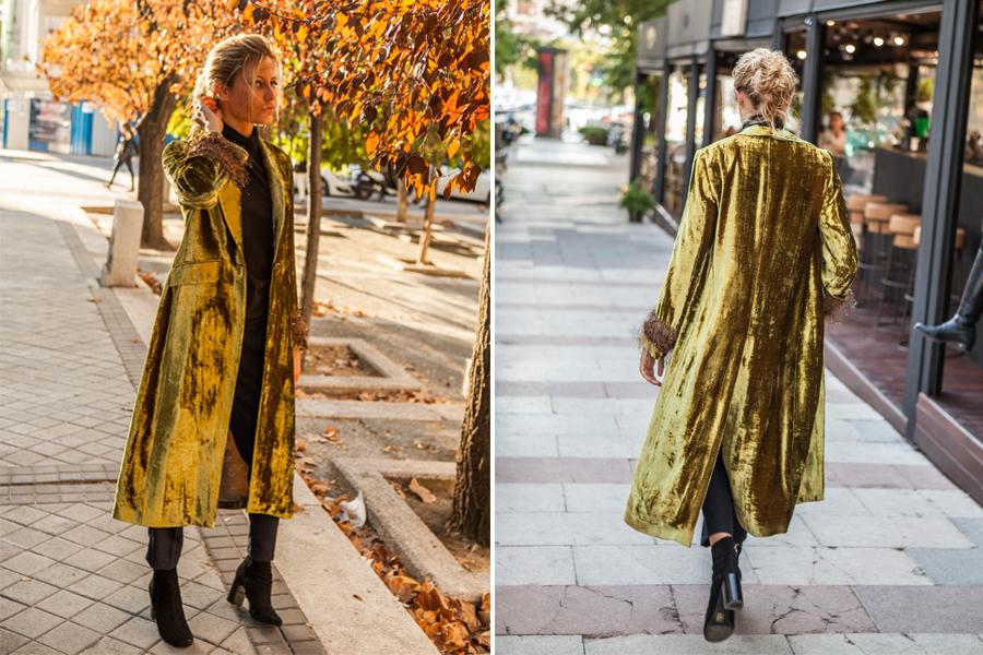 Abrigos hasta los pies de T.ba en amarillo