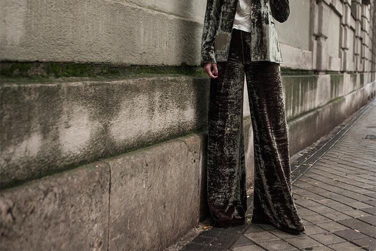 Pantalones palazzo para look de nochebuena