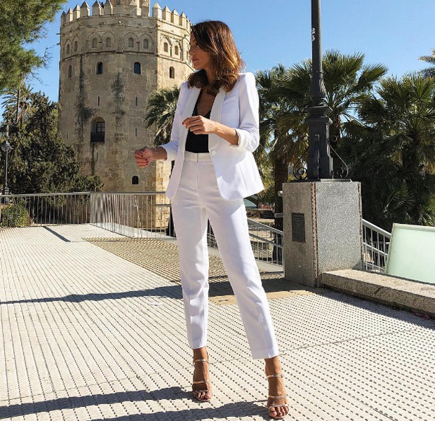 chaqueta blanca tba