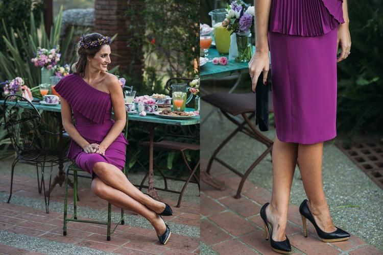 Miss Cavallier con vestido asimétrico