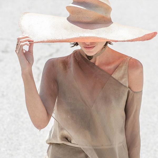 sombrero de rafia tba accesorio