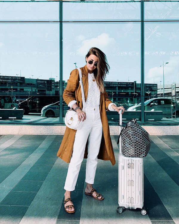 abrigo lino aeropuerto